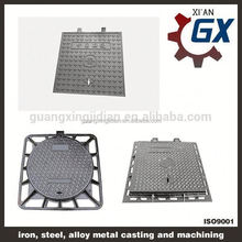 BS EN124 standard black bitumen coated cast iron manhole covers dimensions