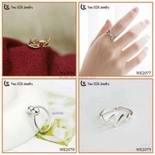 925 Sterling Silver Infinity Symbol Wedding Band Ring adjustable rings