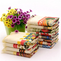 cotton printed tea towel factory price bulk in stock