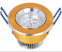 3w 68mm Colorful housing indoor saving energy lamps led recessed downlights