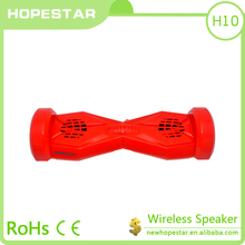 2016 Factory price HOPESTAR Carriage Wheel Shape Bluetooth Speakers,Double Loudspeaker Wireless Sound