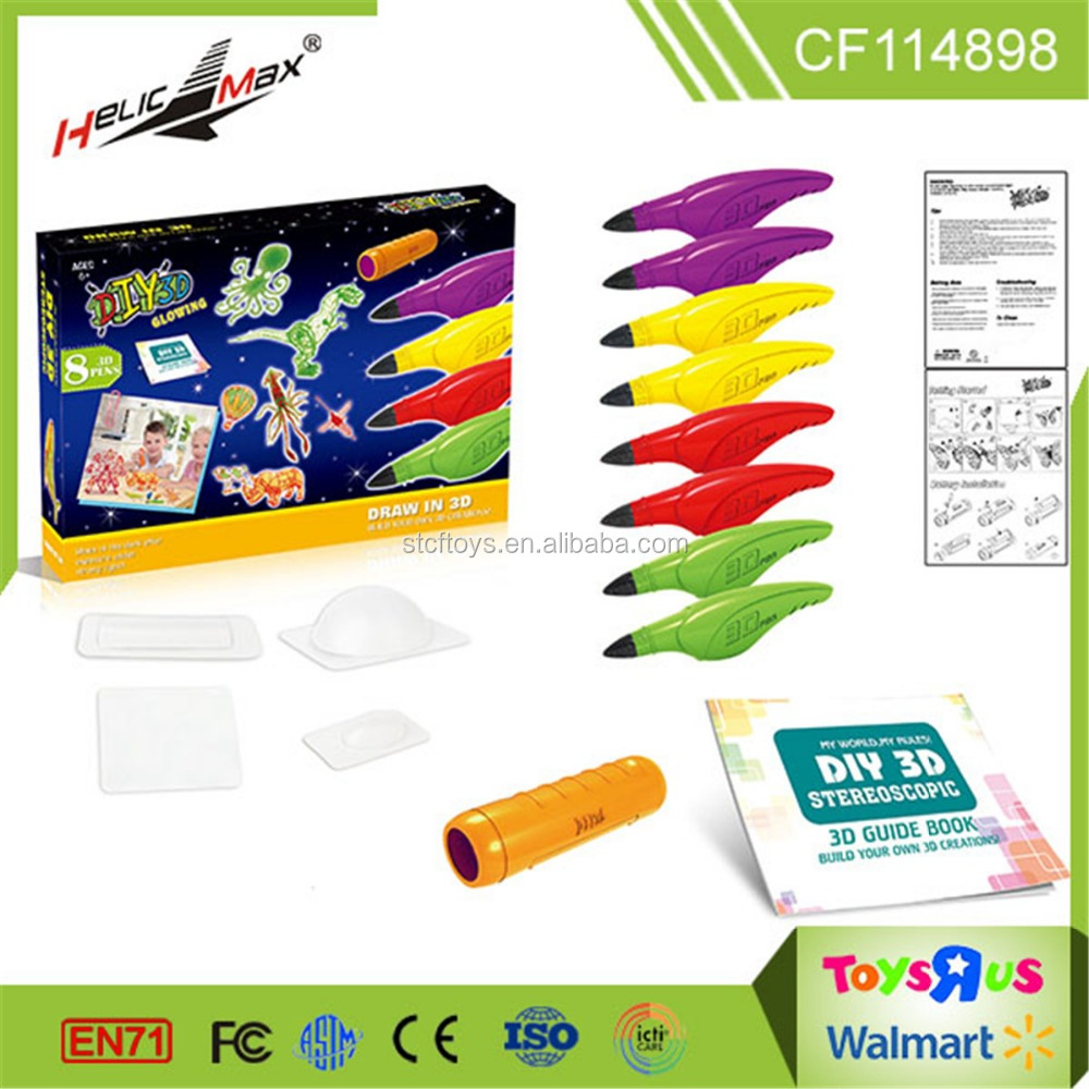 New Intelligent Toy Colorful Painting 3D Pen for Children