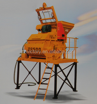 JS series concrete mixer 500 widely used in precast concrete plant