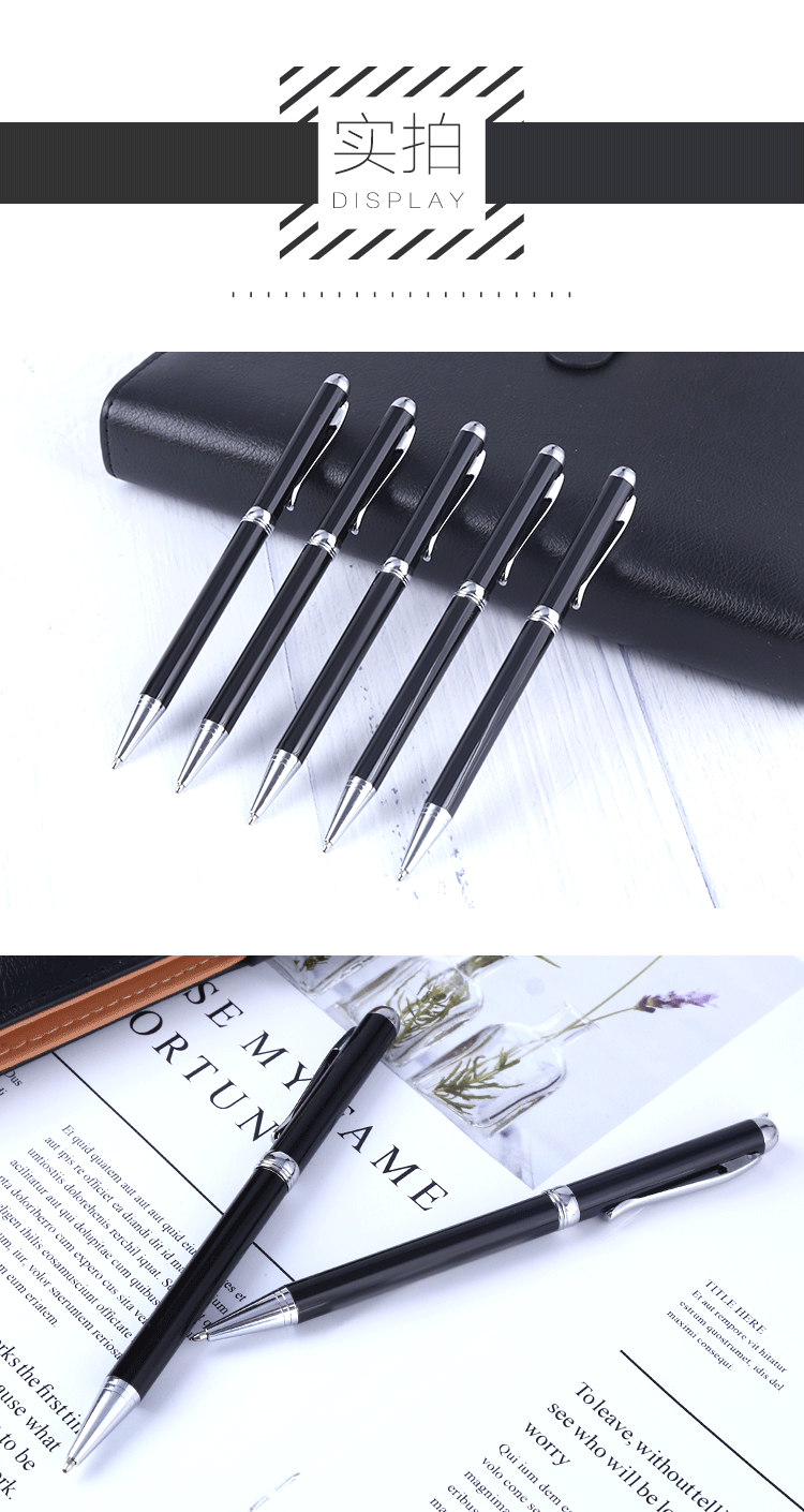 2018 Hot Sale Executive metal ballpoint pen with custom logo promotional gift