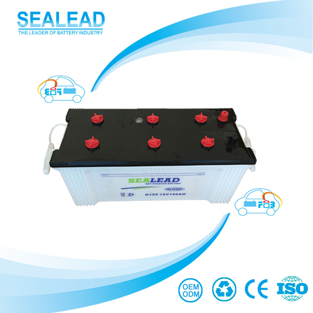 Factory wholesale cheap price 160G51R 12v 150ah dry charged battery for car starting