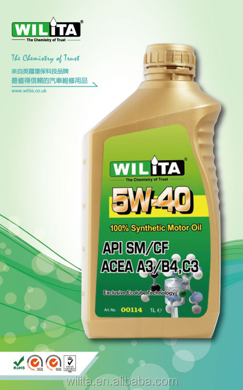 Europe Quality Engine Oil 5W40 Engine Lubrication