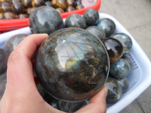 High polished natural labradorite sphere crystal ball for sale