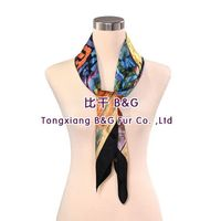 BG80482 real silk scarves with building pattern 2015 women