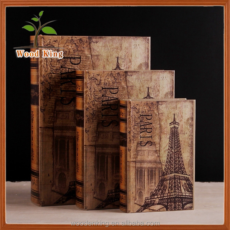 Beech Wood Colored Place Adorn Household Study Bookcase Props European Simulation Furnishing Articles Decoration Fake Books