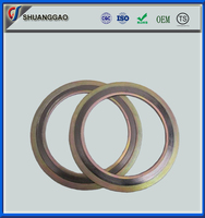 low price stainless steel ss304 316 Spiral Wound Gasket with inner and outer ring