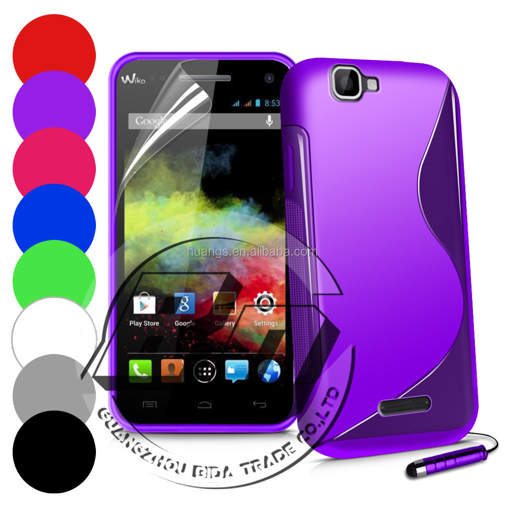 Wholesale Popular S Line soft TPU case for Wiko Rainbow gel case