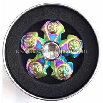 2017 most popular 608 bearing Stainless Steel hand finger spinner