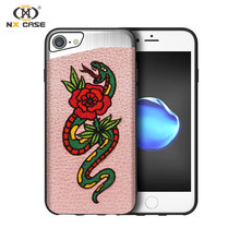 Embroidery leather steel phone cases alibaba for iphone 8 ideas cellphone case