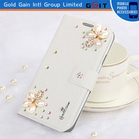 [GGIT] Screen Print Leather Case with Diamond flowers for Sony Case for Sony Xperia C1905