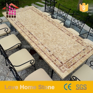 Stainless Steel Restaurant Marble Top Modern Wood marble Sofa Center Table round marble top dining table with low price