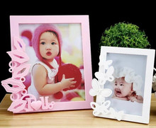 New design sweet style square lovely baby wooden photo frame