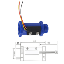 New model blue spiral plastic water flow sensor bulk buy from china
