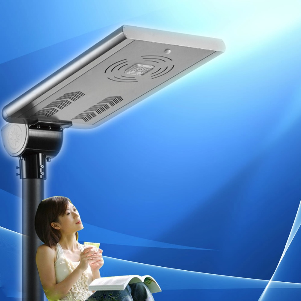 aluminum material housing IP67 led street solar lighting with li battery