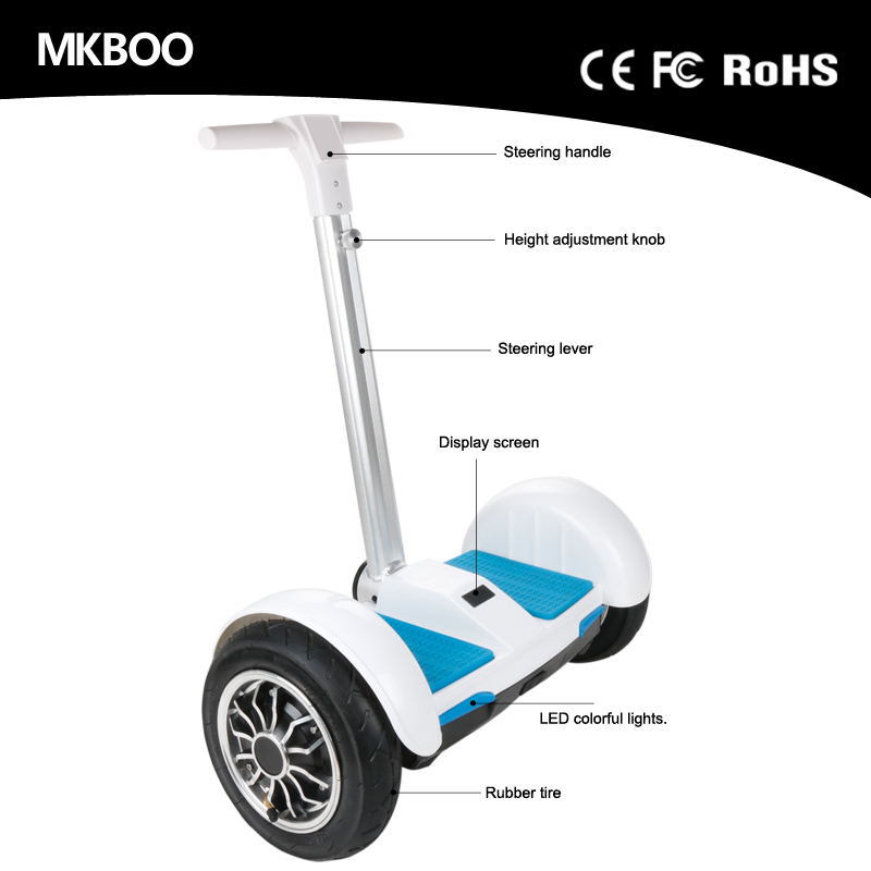 New arrival 20km range per charge motorbike handle bar electric scooter 2 wheel hoverboard 8 inch