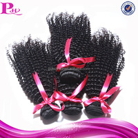high quality top grade afro curl virgin indian hair weave