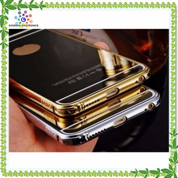 2016 Clear Aluminum Metal Cover Woman Bulk Cell Phone Case For Apple Iphone 5 6 For Samsung Galaxy S5 Mini Core Prime A3 J5