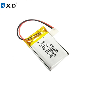 Rechargeable 3.7v 200mAh polymer li-ion battery 042030