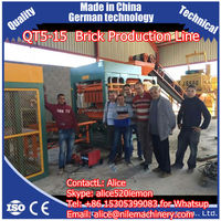 Shengya QT5-15 construction equipment for block making,hollow block machine,QT5-15 used brick making machine for sale