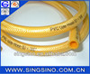 Yellow reinforced braided gas hose