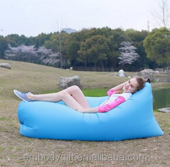 Inflatable bag Air Sleep Sofa Couch Portable Furniture Sleeping Lounger Imitate Nylon External Internal PVC