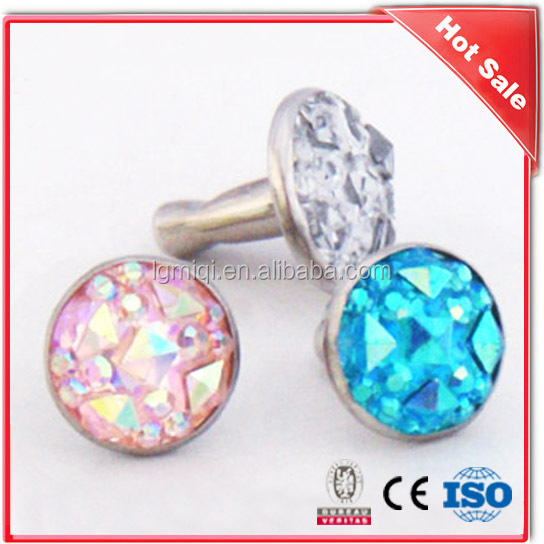 Acrylic Rhinestone decorative rivets for leather