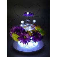 Factory Direct Deal ! Clear Waterproof Decorative Mini led Fairy Pearls for Flower Vas Decoration