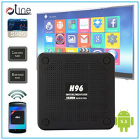 Free download cheap tv box Pretty Strong WIFI signal 2.4G H96 Android h96 free internet tv box