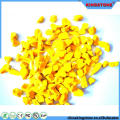 Great quality 1-12mm and up tumbled crystal yellow glass chippings for terrazzo