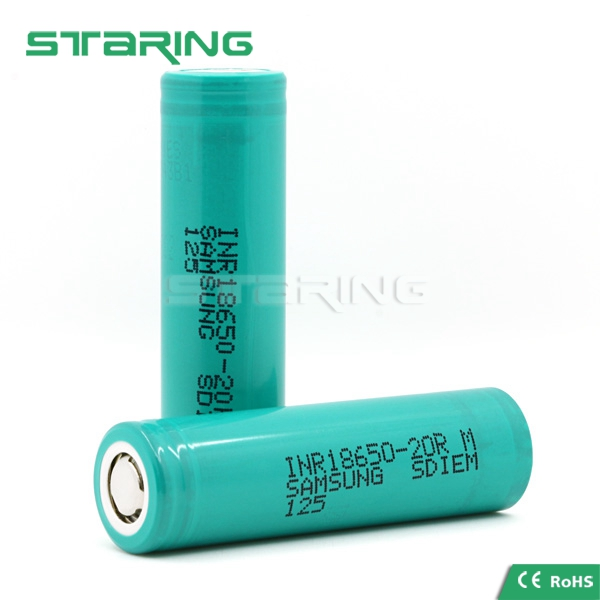 China wholesale inr18650 samsung 20r e cig battery 3.7v 2000mah18650 battery pack Samsung ICR18650 20R Li-ion battery for vaping