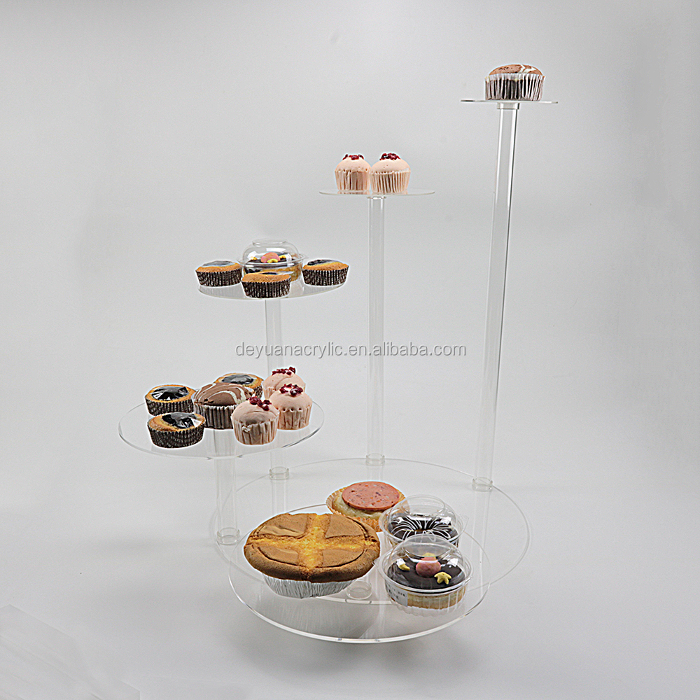 Acrylic Cupcake Stand Dessert Cupcake Tower Wedding Cake Display Stand