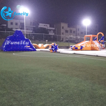 0.9mm PVC Tarpaulin ( PLATO) Giant Inflatable Water Park Games, Floating Water Toys, Inflatable Water Park For Resorts