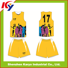 New Style Sublimated Cool Team Best Latest Custom Basketball Jersey Design 2014