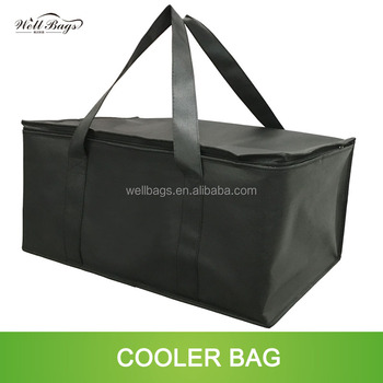 Customized Square EPE foam isolated non woven cooler bag with inside pocket for ice pack