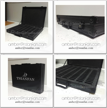Leather Quartz Stone Sample Suitcase / Stone Display Case -Tsianfan PX017
