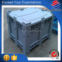 600L gray large plastic container with lid