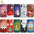 Christmas Gift Tree UV Printing Relief Phone Case for iPhone X