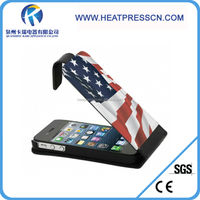 New design vertical open sublimation leather flip phone case for IPHONE 5/5S
