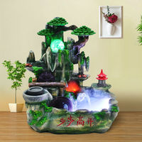 Resin Tabletop fountain1809 artificial table water fountain indoor waterfalls
