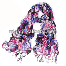 Printed Lady Viscose Scarf Rayon Shawl (PVR005)