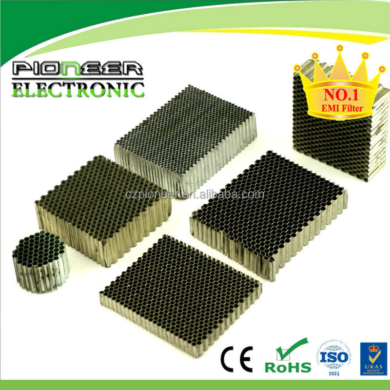 300x300mm Waveguide vent EMC honeycomb vent honeycomb filter for RF/EMC/EMI shielding room