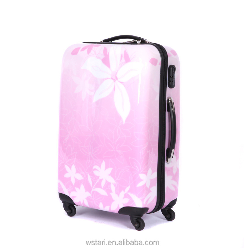 Women Flower Trolley Luggage,Female Travel Suitcases Universal ...