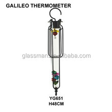 small metal frame hanging galileo thermometer YG651
