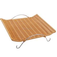 Stock Plastic Rattan Basket For Bread Display