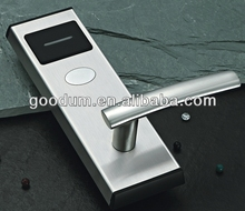 Battery operated digital smart card reader electronic hotel door lock
