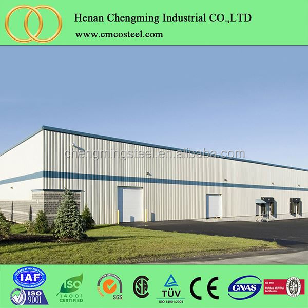 Large-Span Steel Structure Buildings, Light Steel Thin-Walled Structures, Modern Design Steel Building